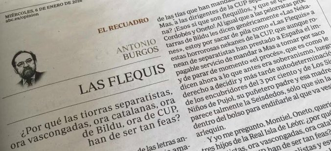 ABC Antonio Burgos Machismo